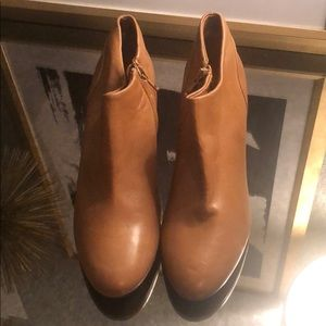 J crew tan leather booties 6.5 New!